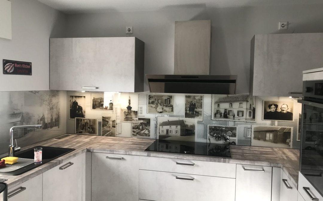 Bilderfliesenspiegel in der Küche